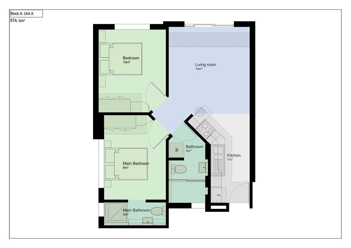 Floorplan - 2 bed