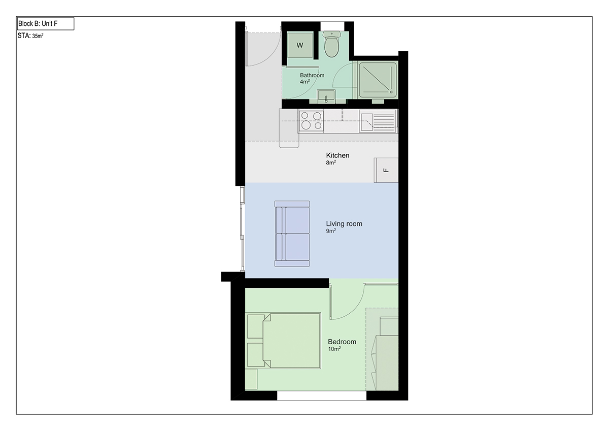 Floorplan - 1 bed